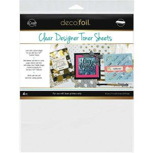Deco Foil Clear Toner Sheets - Clear class=
