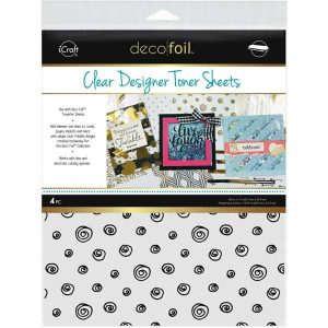 Deco Foil Clear Toner Sheets - Doodles
