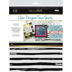 Thermoweb Deco Foil Clear Toner Sheets - Distressed Lines class=