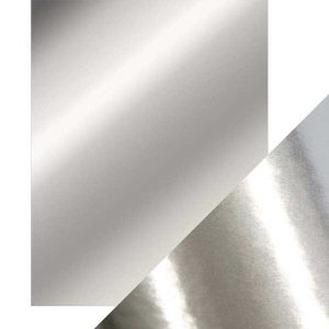 Tonic Studios Craft Perfect Mirror Card High Gloss - Chrome Silver
