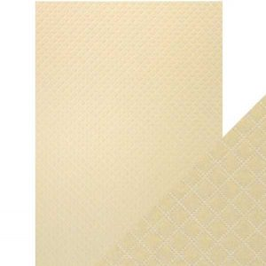 Tonic Studios Craft Perfect Hand Crafted Cotton Paper - Champagne Harlequin