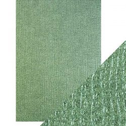 Tonic Studios Craft Perfect Luxury Embossed Card - Emerald Hessian