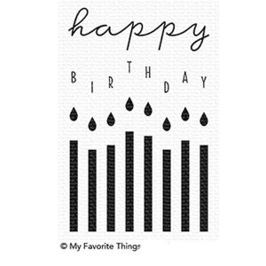 My Favorite Things Happy Birthday Candles Stamp Set