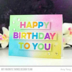 My Favorite Things Happy Birthday To You Stamp Set class=