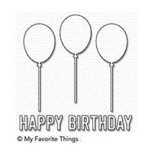 My Favorite Things Happy Birthday Balloon Trio Die-namics