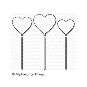 My Favorite Things Heart Balloons Die-namics