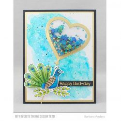My Favorite Things Heart Balloon Shaker Window & Frame Die-namics
