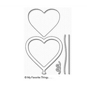 My Favorite Things Heart Balloon Shaker Window & Frame Die-namics