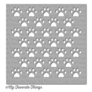 My Favorite Things Staggered Paw Prints Mix-ables Stencil