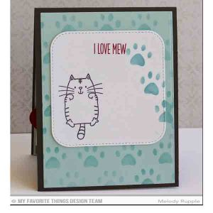 My Favorite Things Staggered Paw Prints Mix-ables Stencil class=