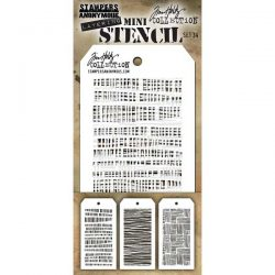 Tim Holtz Mini Layering Stencil, Set #34
