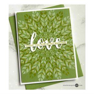 Altenew Leaf Burst Stencil class=