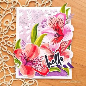 Altenew Build a Flower: Peruvian Lily Stamp & Die Bundle class=