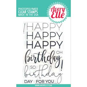 Avery Elle Big Birthday Stamp Set