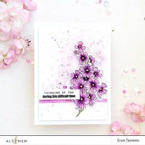 Altenew Starry Flowers Stamp Set class=
