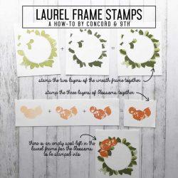 Concord & 9th Laurel Frame Stamp Set