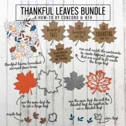 Concord & 9th Thankful Leaves Die Set