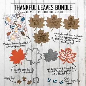 Concord & 9th Thankful Leaves Die Set class=