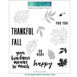 Concord & 9th Thankful Leaves Turnabout Stamp Set