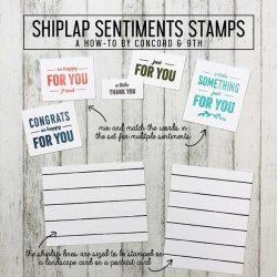 Concord & 9th Shiplap Sentiments Set
