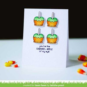 Lawn Fawn Caramel Apple Stamp Set class=