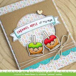 Lawn Fawn Caramel Apple Stamp Set