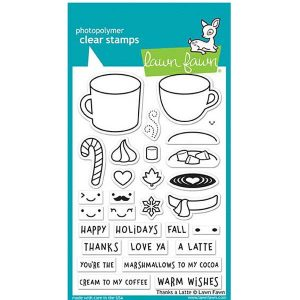 Lawn Fawn Thanks a Latte Stamp Set