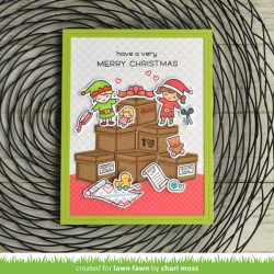 Lawn Fawn Holiday Helpers Stamp Set