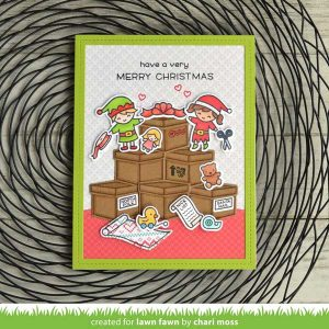 Lawn Fawn Holiday Helpers Stamp Set class=