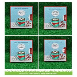 Lawn Fawn Reveal Wheel Holiday Sentiments Stamp Set