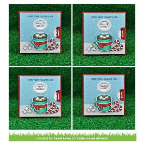 Lawn Fawn Reveal Wheel Holiday Sentiments Stamp Set class=