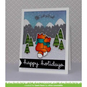 Lawn Fawn Winter Scripty Sentiments Stamp Set class=