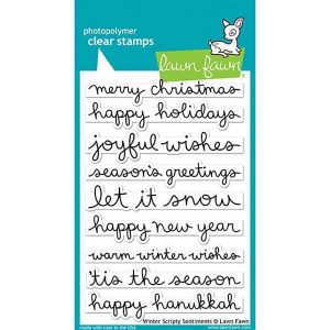Lawn Fawn Winter Scripty Sentiments Stamp Set