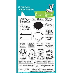 Lawn Fawn Say What? Christmas Critters Stamp Set