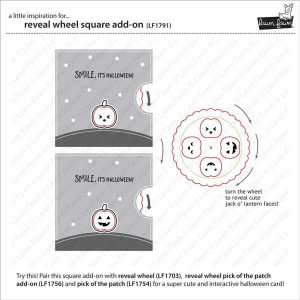 Lawn Fawn Reveal Wheel Square Add-On Lawn Cuts class=