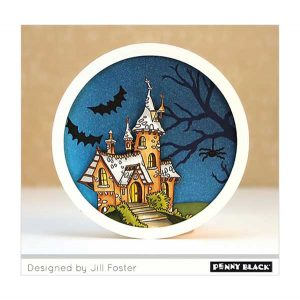 Penny Black Halloween Gathering Clear Stamp Set class=