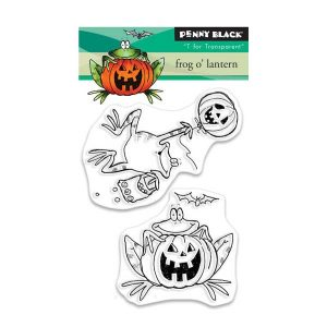 Penny Black Frog o'Lantern Stamp Set