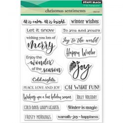 Penny Black Christmas Sentiments Stamp Set