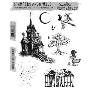 Tim Holtz Haunted House Stamp Set class=