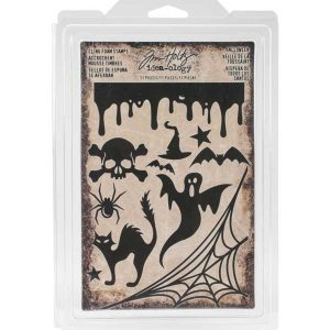 Tim Holtz Idea-Ology Halloween Cling Foam Stamps