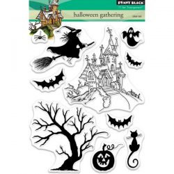 Penny Black Halloween Gathering Clear Stamp Set