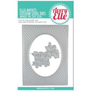 Avery Elle Oval Burst Die Set