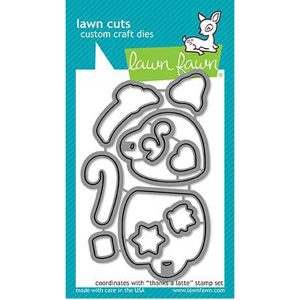 Lawn Fawn Thanks of Latte Lawn Cuts