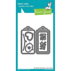 Lawn Fawn Say What? Gift Tags Lawn Cuts