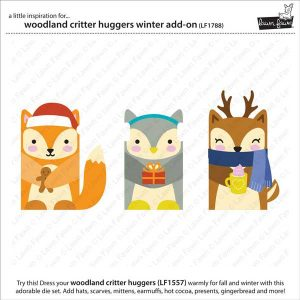 Lawn Fawn Woodland Critter Huggers Winter Add-on Lawn Cuts class=