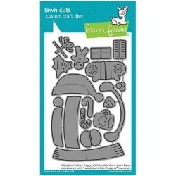 Lawn Fawn Woodland Critter Huggers Winter Add-on Lawn Cuts