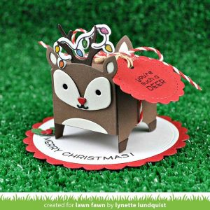 Lawn Fawn Tiny Gift Box Deer Add-on Lawn Cuts class=