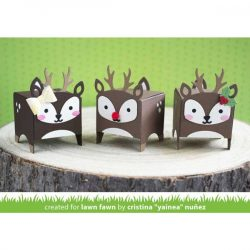 Lawn Fawn Tiny Gift Box Deer Add-on Lawn Cuts