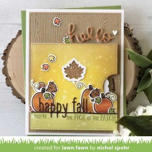 Lawn Fawn Reveal Wheel Fall Leaf Add-on Lawn Cuts class=