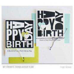 My Favorite Things Happy Birthday Block Die-namics